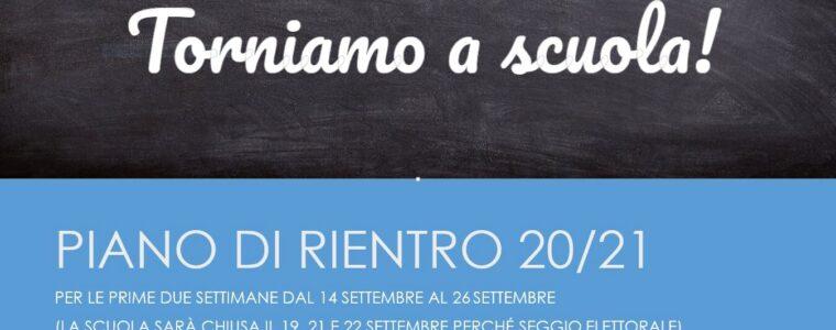 Piano di accoglienza e rientro AS '20-'21 dal 14 al 26 settembre. IN CONTINUO AGGIORNAMENTO – AGGIORNAMENTO DEL 19-09 nuovo piano ingressi centrale